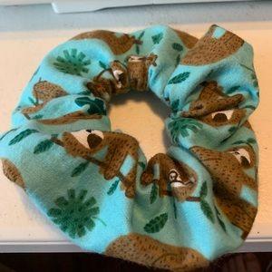 3 Sloth Scrunchies
